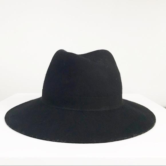 d51d96405b0aa JACK+LUCY Bicoastal Wide Brim Black Wool Hat